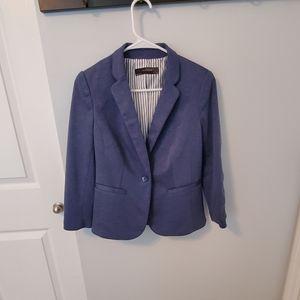 Size S Limited heather navy blue 3/4 sleeve blazer